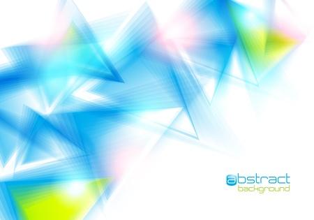 青い三角形と抽象的な背景。ベクトル イラスト。