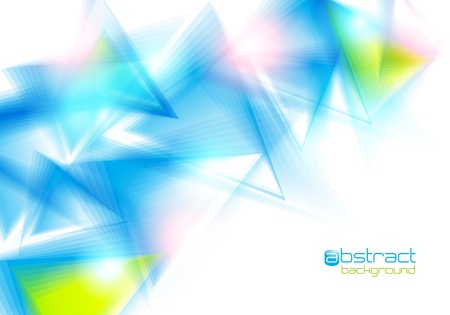 Abstract background with blue triangles. Vector illustration. Vector