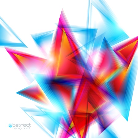 Abstract background with red and blue triangles  Vector illustration