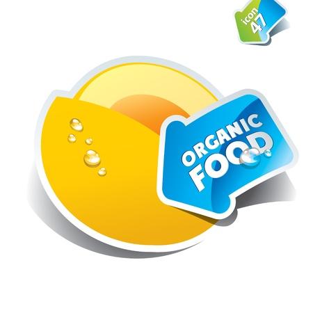 Icon melon with the arrow by organic  Çizim