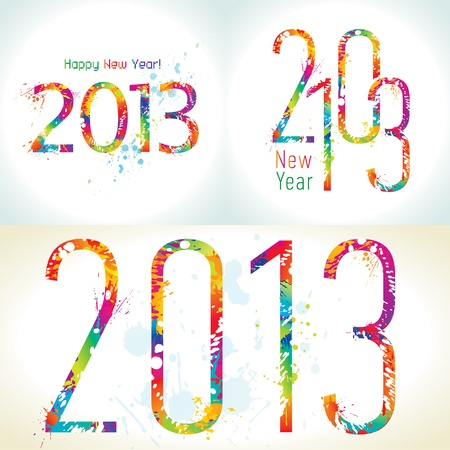 joyfulness: Set of New Year Illustration