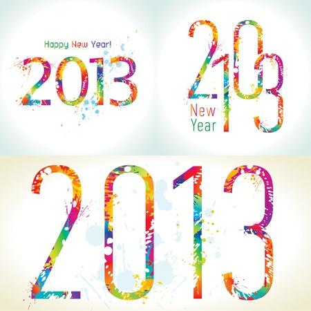 Set of New Year Illustration