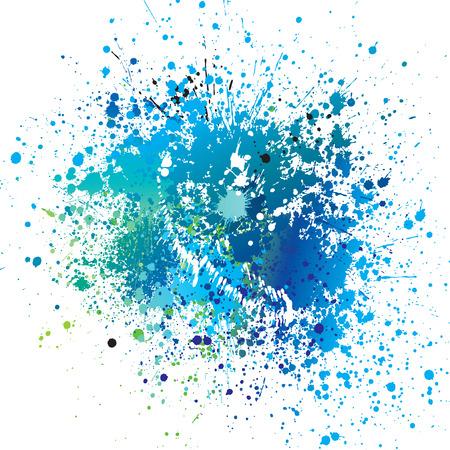 青のスポットとスプレー ベクトル イラスト背景