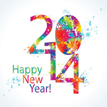 新しい年の 2014 年