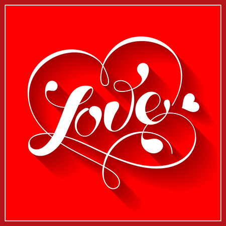 Lettering LOVE. For themes like love, valentines day. Çizim