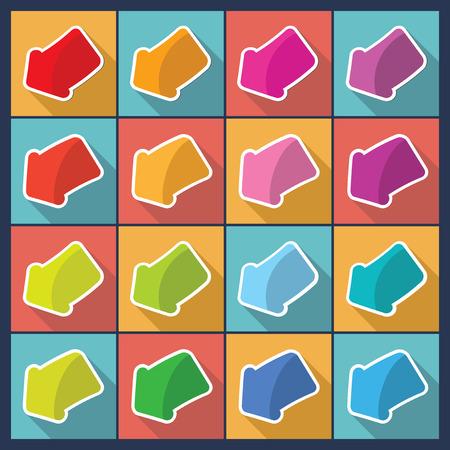 Set of flat design arrows.