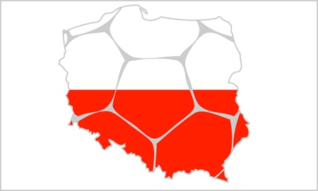mapa: Mapa Polski Illustration