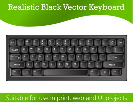 Realistic Keyboard  Vector