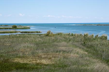 Ebro river mouth Stock Photo