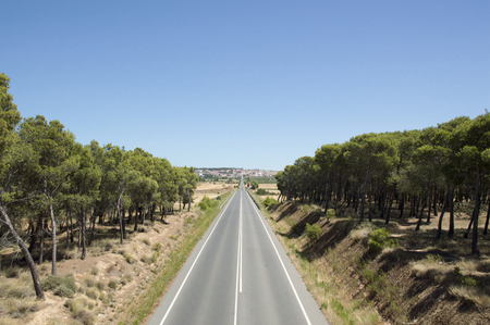 Road to Santiago from Los Arcos to Logroño Stock Photo