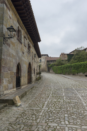 The town of Santillana de Mar in Cantabria Stock Photo