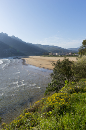 The Orion beach from Sonabia in Cantabria Stock Photo