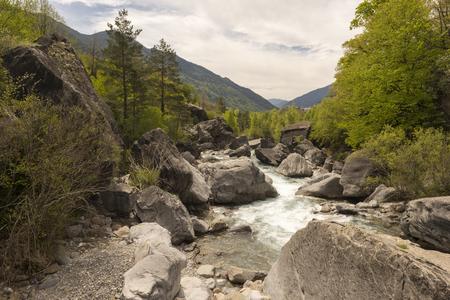Hiking in torla ordesa, pyrenees of huesca Stock Photo
