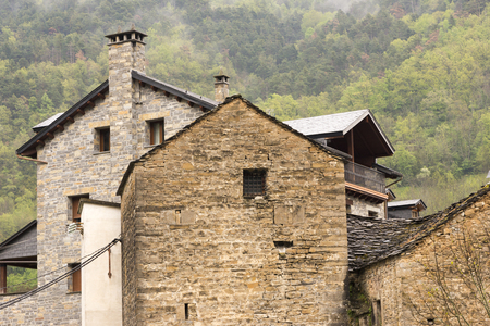 Through the village of Broto in Huesca, Pyrenees