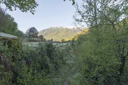 perdido: Landscape between the towns of sprout and torla in Ordesa