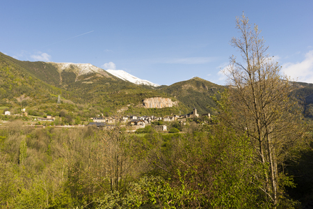 perdido: Landscape between broto and torla in the Pyrenees of Huesca