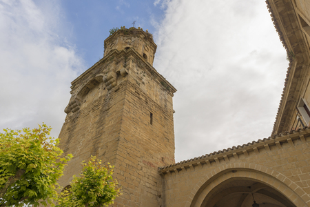 way of st james: The village of Puente la reina in Navarra Stock Photo
