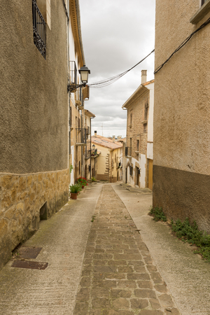 way of st james: The village of Cirauqui in Navarre, Spain Stock Photo
