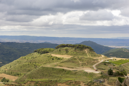 Landscape near Ujue in the province of Navarra, Spain Stock Photo