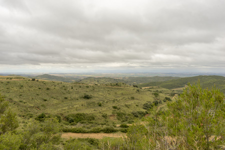 navarra: Landscape near Ujue in the province of Navarra, Spain Stock Photo