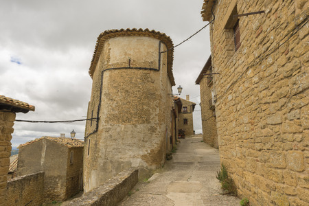 navarra: The town of Ujue in Navarra, Spain