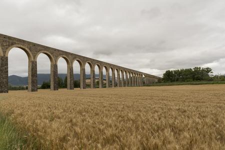 Roman aqueduct in the province of navarra, spain