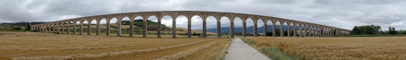 Roman aqueduct in the province of navarra, spain