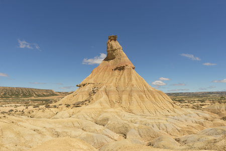 The desert of the bardenas reales in navarra