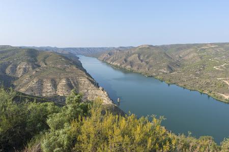 Viewpoint to the river ebro in Fayon, Zaragoza, Spain.
