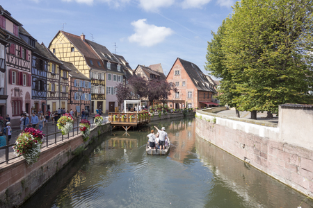 The beautiful village of Colmar in France