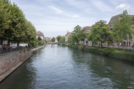 The beautiful city of Strasbourg in France Editorial