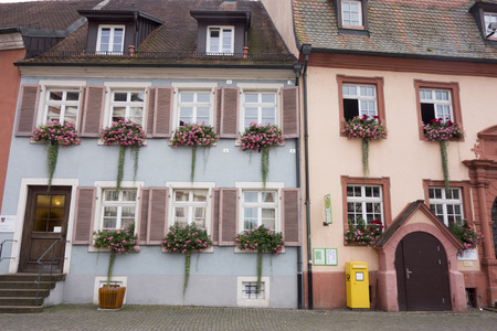characteristic: GENGENBACH, BADEN-WURTTEMBERG GERMANY - AUGUST 16, 2017: Medieval town centre with characteristic half-timbered houses Editorial