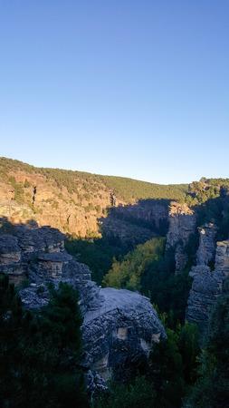 mancha: In the natural park of the high Tajo in Guadalajara, Spain