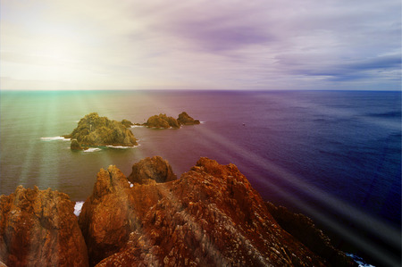 The ortegal cape in Galicia at sunset