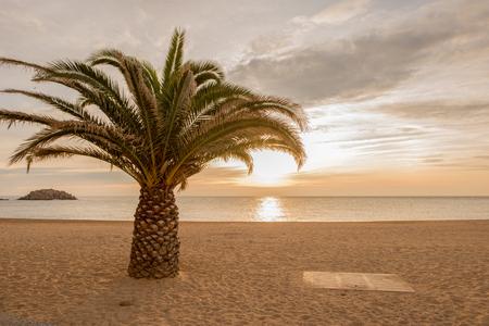 Sunrise in the village of Tossa de Mar, Costa brava, Girona