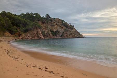 At the cala giverola on the Costa Brava, Girona, Catalonia Stock Photo