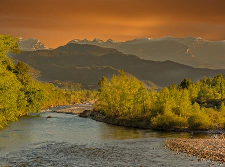 River in the natural park of Ordesa de Huesca, Spain Stock Photo
