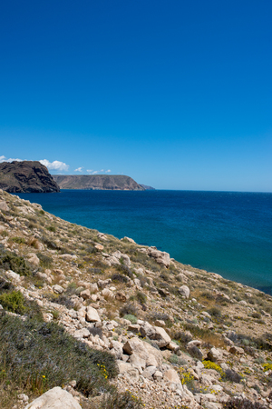 The coast in the blacks of almeria, Spain