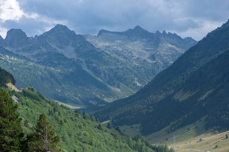 Mountains in the Bonaigua in the Valley of Aran, Pyrenees, Spain