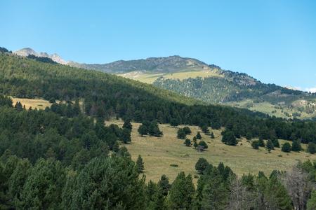 Baqueira mountains in summer, Valle de Aran, Spain Stok Fotoğraf