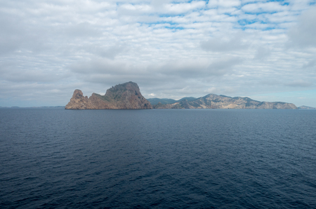 The island of Es Vedra from the sea, Spain