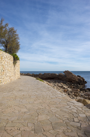 The mediterranean sea in Ametlla de mar, Costa daurada, Spain