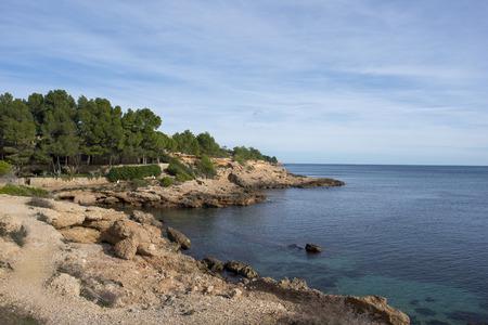 The coast of l'ametlla de mar on the coast of tarragona, Spain Фото со стока