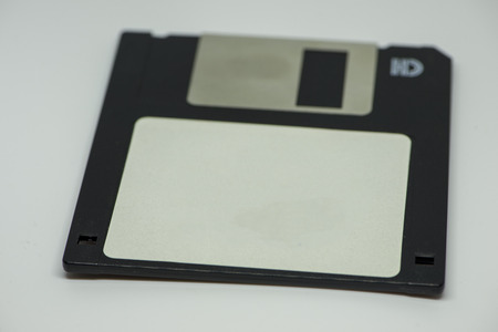 A floppy disk on a white background, Spain 版權商用圖片
