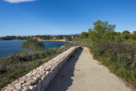 Walk along the coast of ametlla de mar in tarragona, Spain
