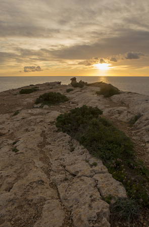 Sunrise in the Cap Martinet on the island of Ibiza, Spain