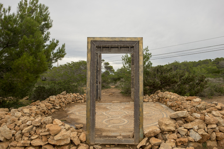 The doors of Llentia on the island of Ibiza, Spain
