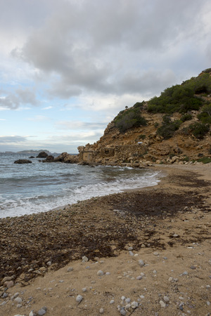 The coast of ibiza a cloudy day, Spain