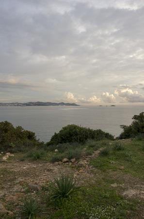 The cala sa sal rossa in ibiza at dawn, Spain
