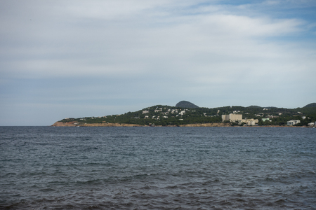 The coast of Ibiza one day with very bad sea, Spain
